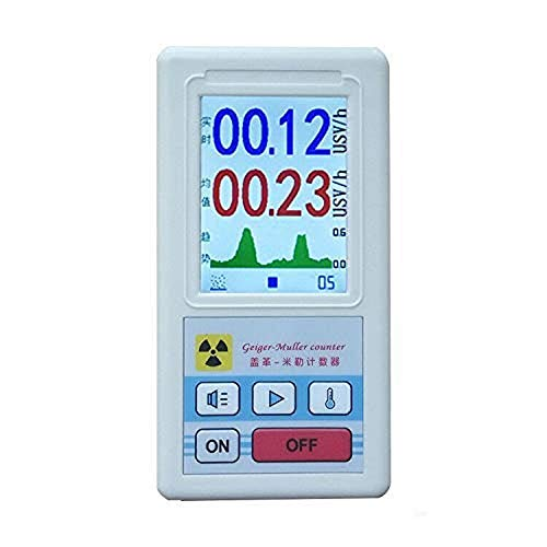 Geiger Counter Nuclear Radiation Detector,BR-6 Type Geiger Counter,Type Beta Gamma X-ray Tester, Radioactive Detector, Personal Dosimeter Marble Detector Meter Portable Dosimeter