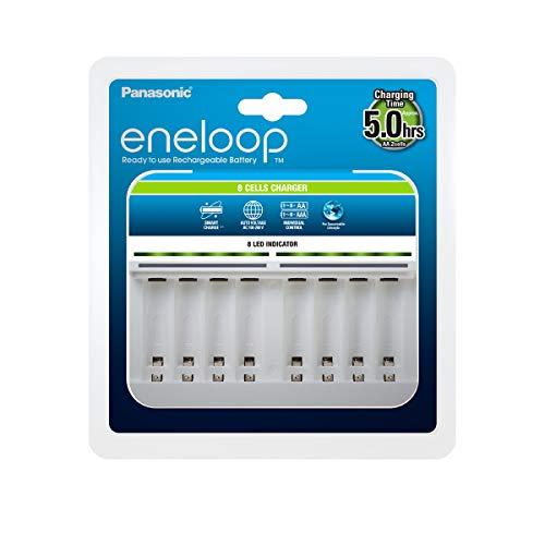 Panasonic eneloop Intelligent Premium Charger for 1-8 NI-MH Batteries...