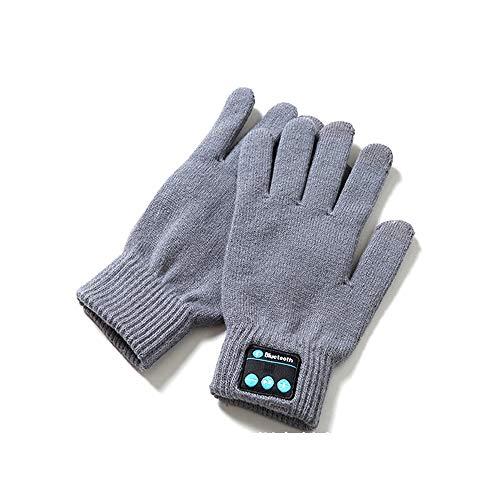 Bluetooth Handschuhe Winter Smart Touch Handschuhe Damen Herren zum Laufen Skifahren Hund Spazieren Joggen Radfahren Touren