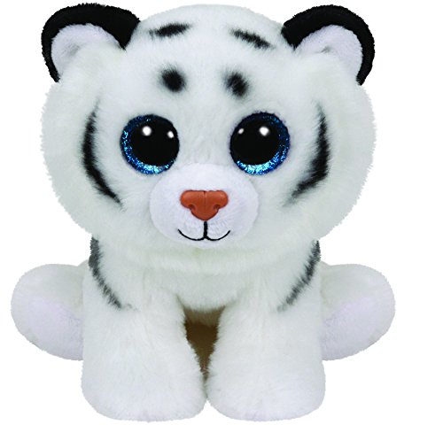 TY T90219 Tundra White Tiger 90219-Tundra-Tiger mit Glitzeraugen, Grau
