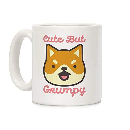 N\A Cute But Grumpy Mug Taza de café de cerámica Blanca de 11 onzas