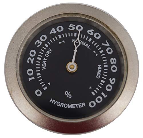 GERMANUS Hygrometer als Ersatz für Humidor 35 mm, Silber, Schwarz