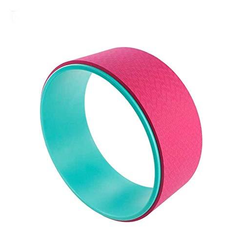 DC CLOUD Rueda Yoga Yoga Circle Ejercicios de Pilates DE LA Rueda Rueda de Yoga para Estiramiento Rueda de Apoyo para Yoga Poses Green-Pink,-