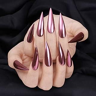 BINNAIL Chrome Nail Art Powder Mirror Effect Glitter Nail Pigment Manicure Powder (Rose Gold)