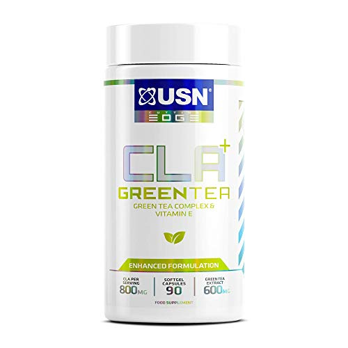 USN CLA Green Tea, Weight Loss 800 mg CLA, 600 mg Green Tea, 90 Soft Gel Capsules