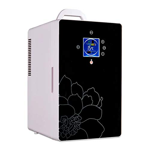 Mini Nevera Mini Refrigerador Mini refrigerador Cosmético Coche Refrigerador 16L Compacto Compactor CALIFERENTE CALENTE para Coche Y HOGAR con EL Control DE Temperatura Digital (Color : Black)