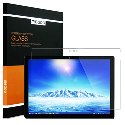 MEGOO Surface Pro 3 Bildschirmschutzfolie, gehärtetes Glas, blasenfrei, ultraklar, kratzfest, fre&lich berührender Displayschutz - Ideal für Microsoft Surface Pro 3 (12 Zoll 1631 Model)