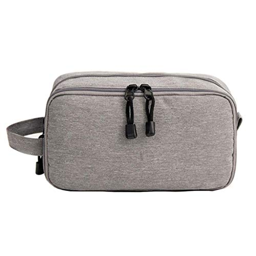Trousse de toilette Étanche Cosmetic Bag Storage Grande Capacité Portable Multifonctionnel Simple Voyage Wash Universal 3 Couleur 22.5 * 9 * 12.5cm MUMUJIN (Color : Gray)