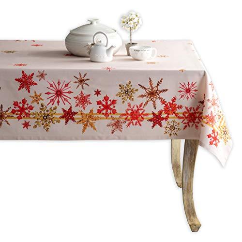 Maison d' Hermine Mantel Crystal Star 100% algodón para cocina, cena, mesa, decoración de fiestas, bodas, día de Acción de Gracias, Navidad (rectangular, 160 cm x 220 cm)