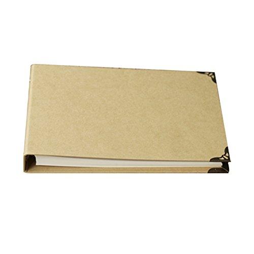 FORUSKY 160 Seiten 29,2 x 20,3 cm Kraftpapier Hardcover Scrapbook DIY Fotoalbum Hochzeit Gästebuch Jubiläum Buch für Fuji Instax Mini Wide 300 Wide 210 Filme