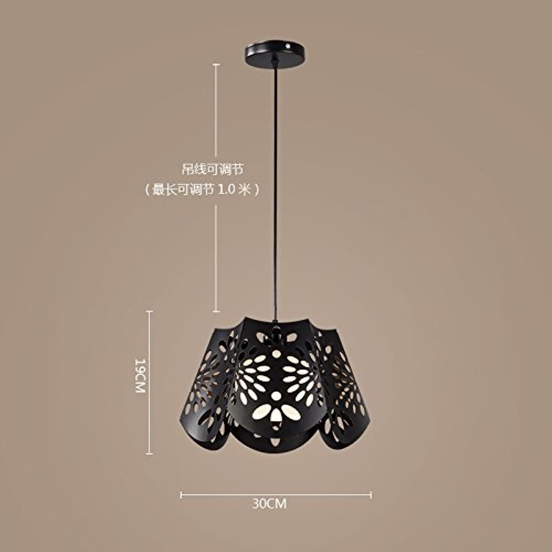 Luckyfree Kreativwirtschaft Einfache moderne Eisen Pendelleuchte Zimmer Bar Cafe Restaurant Küche Flur Lampen Deckenleuchte Kronleuchter sechseckigen Schwarz +9 W-LED