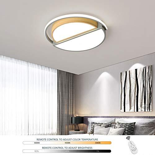 HIL LED Lámpara De Techo Lámpara Regulable Habitación Para Niños Dormitorio Niño Y Niña Lámpara De Techo Sala De Estar Redonda Simple Foco De Techo Protección Para Los Ojos Iluminación,52 * 5cm/52w