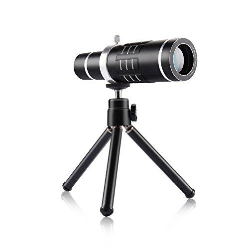[18X Zoom] Sincewe Telescopio Cellulare Universal Lenti Smartphone 18X Zoom per iPhone 7/iPhone 6/6s ,5 , Samsuang S6,S5,S4,Xiaomi, Huawei ecc