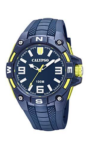 Calypso Watches Reloj Analógico para Hombre de Cuarzo con Correa en Plástico K5761/2