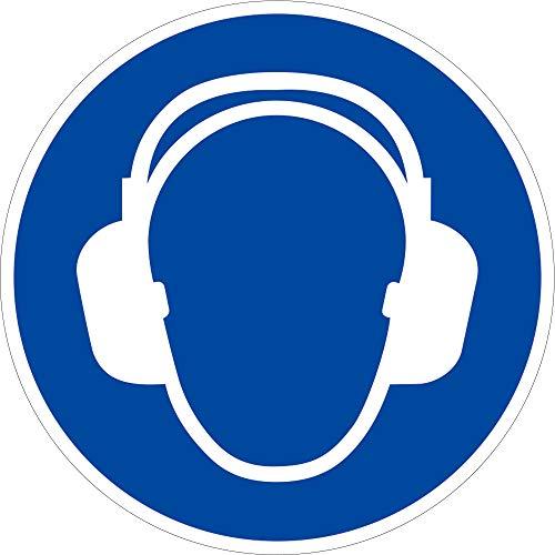 Schild Gehörschutz benutzen 20cm Ø Alu