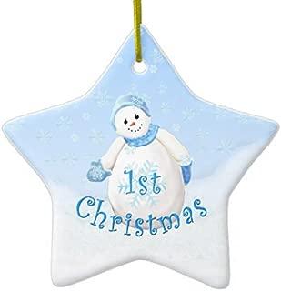 VinMea Star Sharp Christmas Ornaments Baby's 1st Christmas Snowman Star Ornament