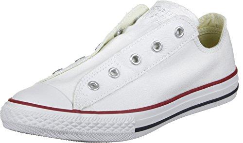 Converse Bambini Mandrini 3V018 AS Slittamento Bianco Bianco, Taglia:27
