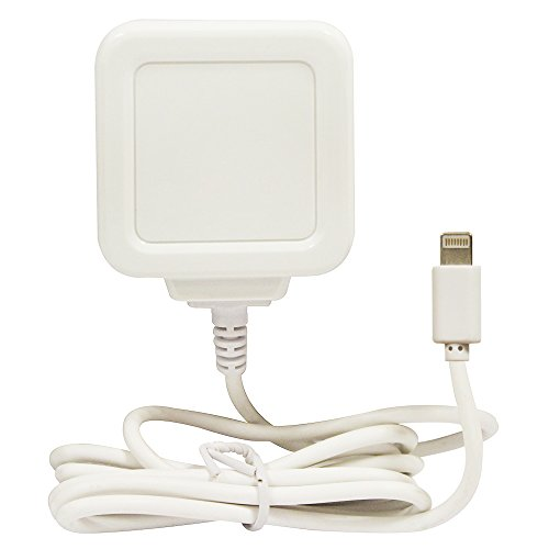 Gadget Juice - Cargador de pared para iPhone XS XR X 8 7 6S 6 Plus SE 5S 5C 5 C 5 con cable integrado de 1 m, certificado CE, color blanco