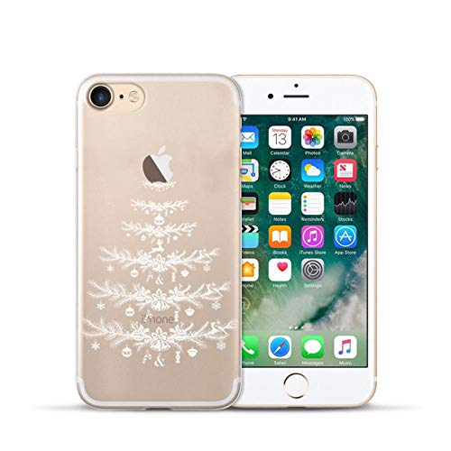 HASGK Telefonkasten für weiches TPU rückseitige Abdeckung für 5 5S 6 sPlus X XS maximalesWeihnachtstelefonkasten für 7 8 Plus 11 Pro max-A07_for iPhone 11Pro