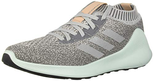adidas Women's PureBounce+, Grey/Silver Metallic/ash Green, 9.5 M US