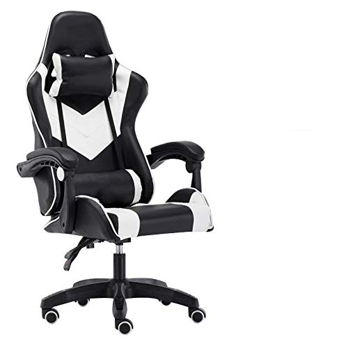 The best of us Internet cafe computer chair game gaming chair home office chair swivel chair ergonomic chair gaming chair supply-White