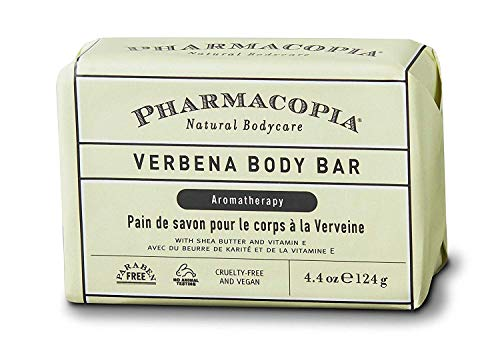 Pharmacopia Verbena Body Bar - Aromatherapy Body Soap with Natural & Organic Ingredients - Vegan Body Wash Bar for Men & Women, 4.4oz