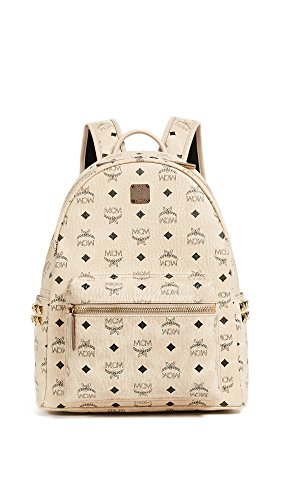 MCM Stark Side-Stud Small Medium Backpack Beige One Size