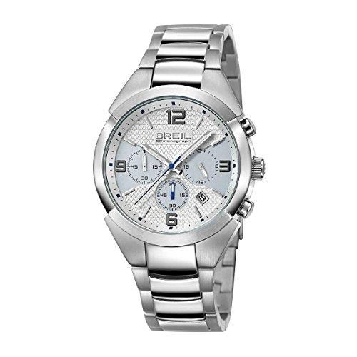 Breil TW1274Hombres de la brecha Cronógrafo correa de acero inoxidable caso & 42mm) reloj de cuarzo
