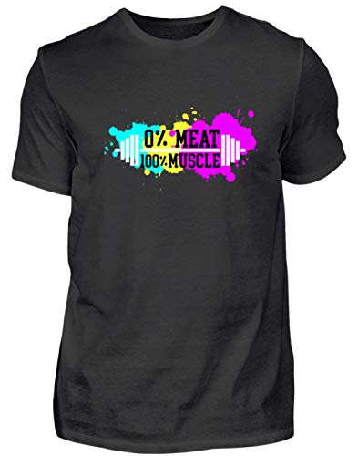 Cool vegan/vegetarier training spieren workout halter cardio gym fitness proteïne - heren shirt