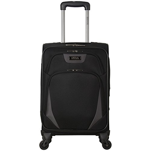 Kenneth Cole Reaction Going Places 20' 600d Polyester Expandable 4-Wheel Spinner Carry-on Luggage, Black