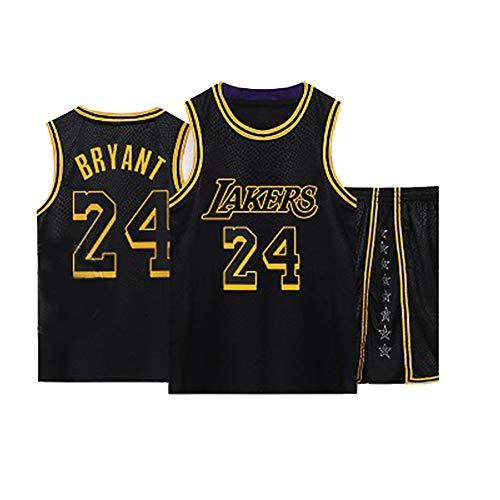 Gsaknc Camiseta Angeles Lakers 24# Kobe Follower, EdicióN Conmemorativa VersióN Bordada Uniforme del Equipo, Tejido De Malla Transpirable