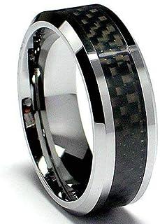 Men's Ring and Black Carbon Fiber