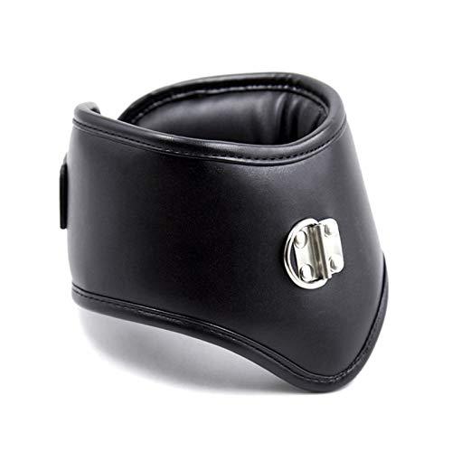 LJZozzcr Cuello de arnés de Cuero con Anillo de Os Cosplay SM Juguete Suave y cómodo Ajustable para Pareja Sunglasses