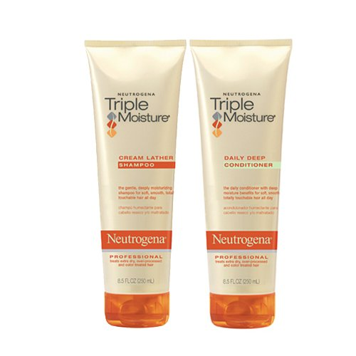 Neutrogena Triple Moisture Cream Lather Shampoo and Daily Deep Conditioner, 8.5 fl oz New Hampshire