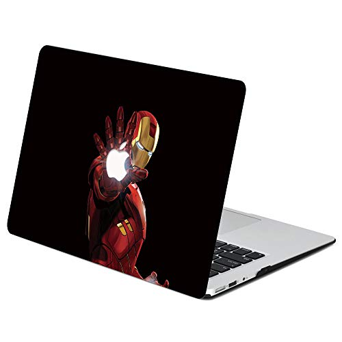 AJYX Custodia per MacBook Pro 13 A1278 con CD-ROM versione 2012/2011/2010/2009/2008, in plastica rigida, compatibile con MacBook Pro 13, Iron Man DM-18