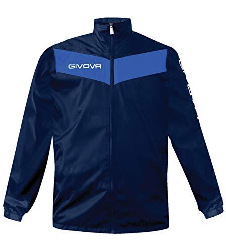Giosal Regenjacke Windschutz GIVOVA Rain Scudo Training Jacke Sport S blau/azurblau