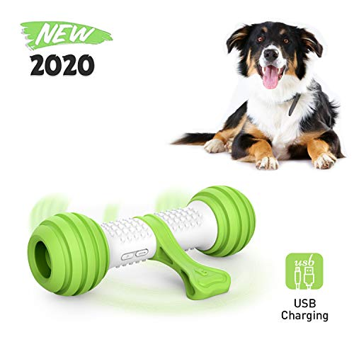 PETGEEK Interactive Dog Toy Bone-Pet Automatic Dog Bone Toy- Electronic Dog Toys for Large/Medium Dogs Safe Material PC & TPR Size 8.1x2.5x4.6 Inches