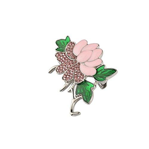 joyMerit Broche de Aleación de Zinc con Flor Rosa Vintage para Mujer, Broche para El Pecho, Joyería para Boda - Flor de peonía