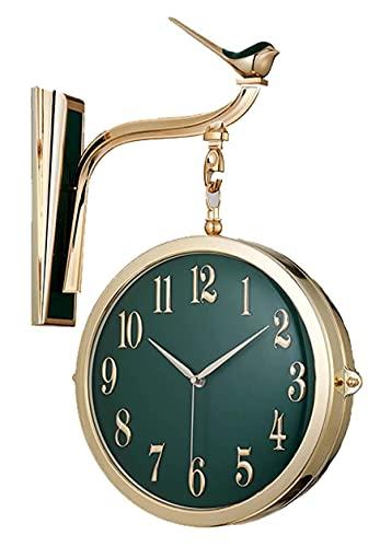 X&Z-XAOY 양면 빈티지 벽 시계-레트로 매달 부류는 시계 거는 고급 시계에 대한 실내 거실 복도 장식