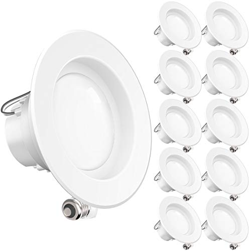 Sunco Lighting 10 Pack 4 Inch LED Recessed Downlight, Smooth Trim, Dimmable, 11W=60W, 3000K Warm White, 660 LM, Damp Rated, Simple Retrofit Installation - UL + Energy Star