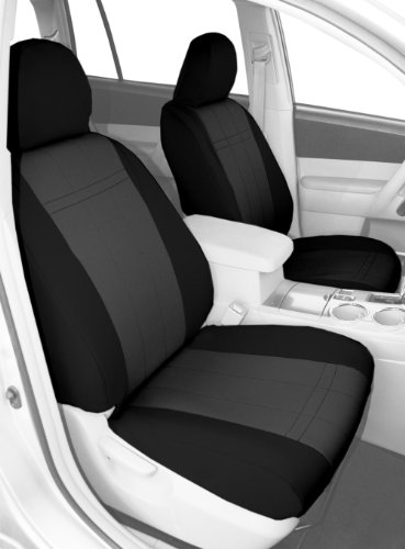 Fia SP87-52 BLACK Custom Fit Front Seat Cover Bucket Seats Poly-Cotton, Black