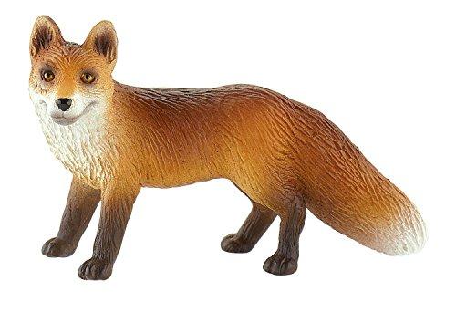 Bullyland 64445 - Spielfigur, Fuchs, ca. 7,5 cm groß, liebevoll handbemalte Figur, PVC-frei, tolles Geschenk für Jungen und Mädchen zum fantasievollen Spielen