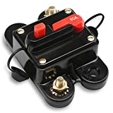 80 Amp Fuse, DROK DC 24V 80A Manual Reset Circuit Breaker Trolling Motor Auto Car Marine Boat Audio Stereo Video Inline Fuse Inverter Power Surge Current Overload Protector