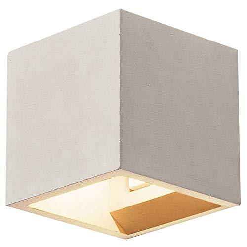SLV Wandlampe SOLID CUBE für die gemütliche Innenbeleuchtung von Wänden, Flur, Fassaden, Treppen, Eingängen | Up- and Down Wandleuchte, Wand-Beleuchtung, Wand-Strahler | LED G9, max. 25W, EEK D - A+