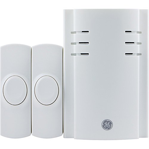 GE 19300 Wall Outlet Wireless Door Chime (White)