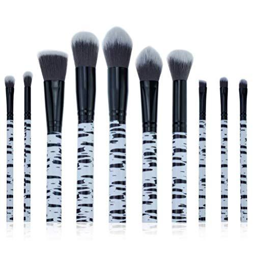 WORISON Maquillage Pinceaux, 10pcs cosmétiques pinceaux de maquillage pour la Fondation Blending fard à joues Correcteur Shader fard à paupières Eyeliner