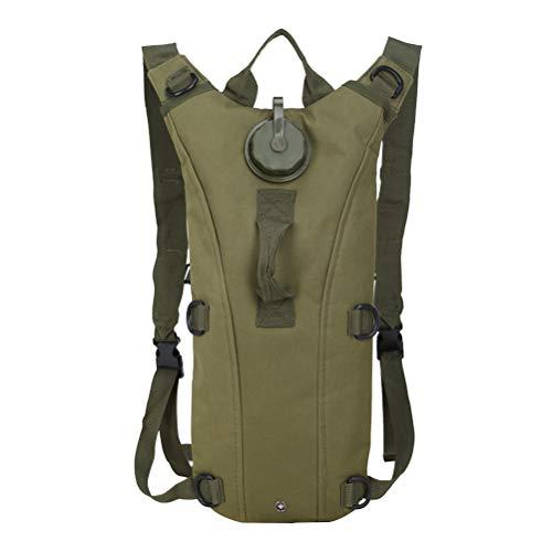 LIOOBO Paquete de Mochila de hidratación Bolsa para Caza Trekking Ciclismo de Viaje Camping 3L (Verde Militar)
