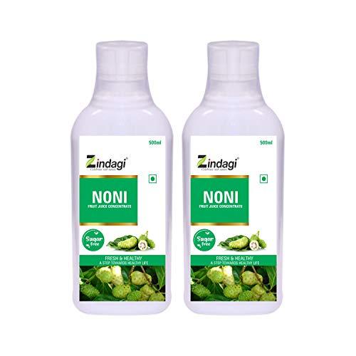 Zindagi Pure Noni Juice - Natural Sugar-Free Energy Drink - Pure Noni Fruit Health Supplement (1000 ML)