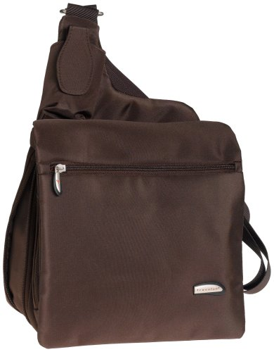 travelon leather messenger bags Travelon Large Messenger-Style Shoulder Bag, Chocolate, One Size