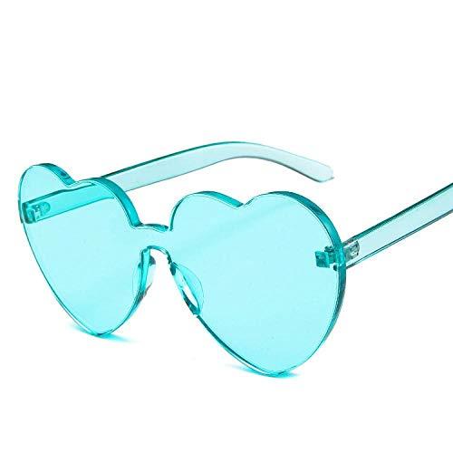Occhiali da Sole Sunglasses Occhiali da Sole A Forma di Cuore da Donna Occhiali da Sole Color Caramella Occhiali da Sole in Plastica Classico Verde Vintage